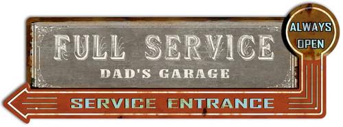 Dad's Garage Metal Wall Sign