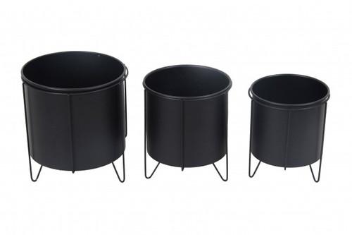 Black Metal Pot w/ Stand