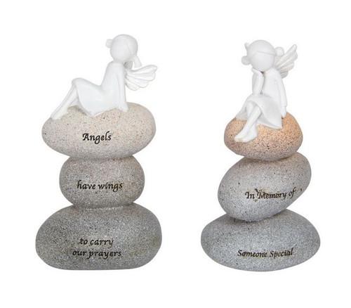 Angel On Stone Ornament