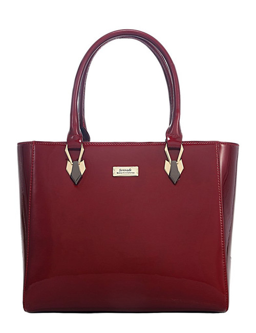 Allura Patent Leather Shoulder Bag / Cherry