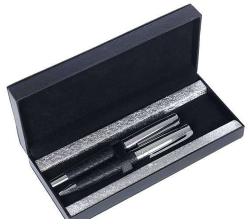 Silver & Black Pen Set
