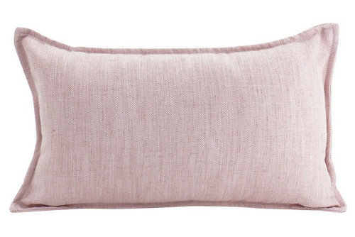 Baby Pink Linen Cushion 30x50cm