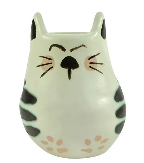 Crystal Cat Ceramic Planter 15cm