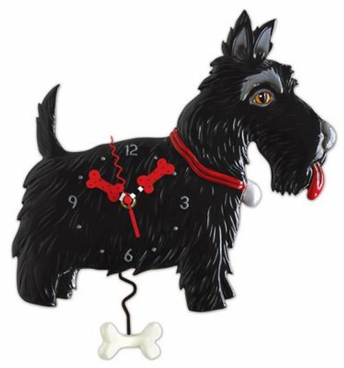 Scottie Dog Pendulum Clock