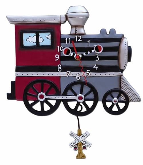 Choo Choo Train Pendulum Clock