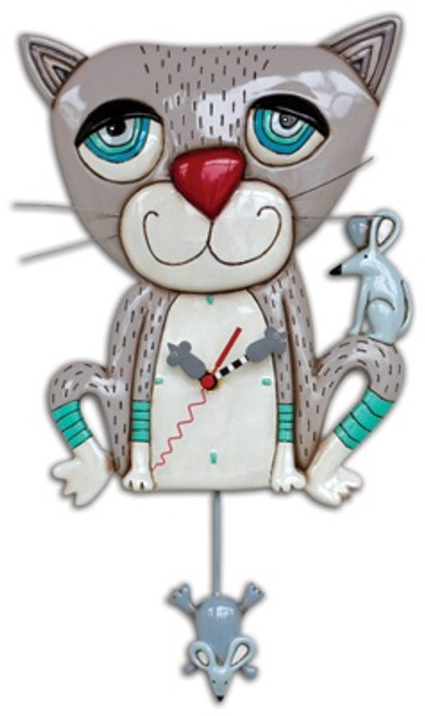 Cat & Mouse Pendulum Clock