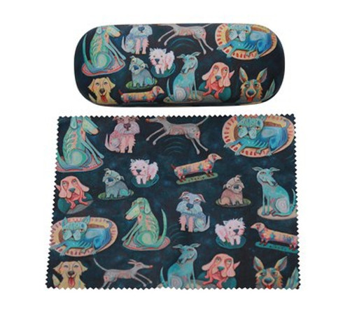 Dog Patterned Glasses Case