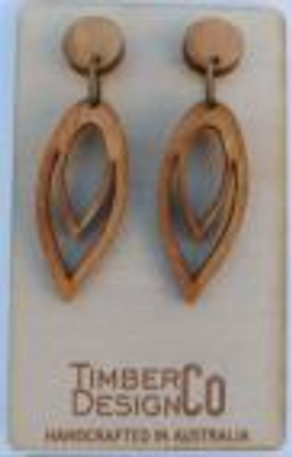 Almond-Shaped Mountain Ash Drop Earrings