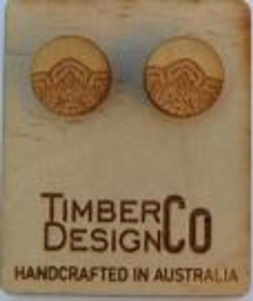 Mandala Sassafras Stud Earrings