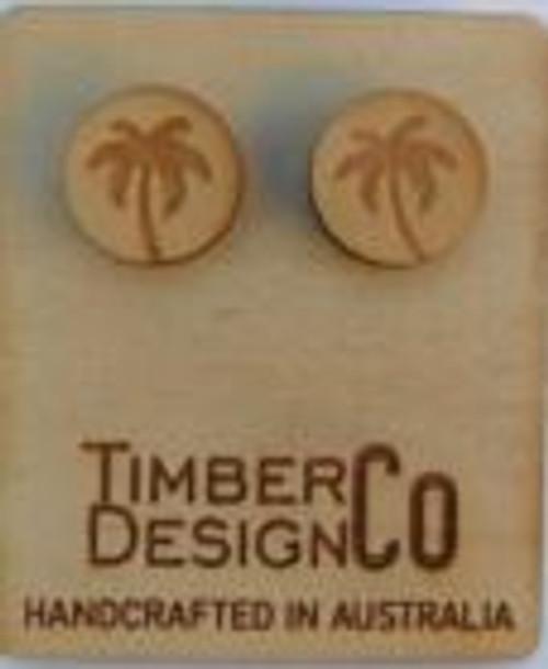 Palm Tree Sassafras Stud Earrings