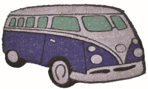 Blue Kombi-Shaped Doormat 43x73cm