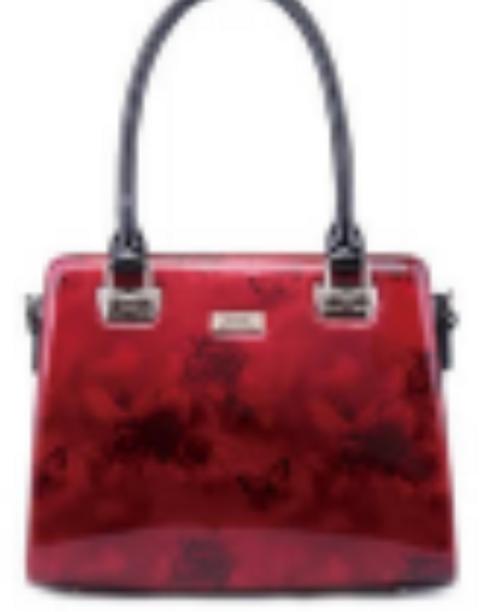 Cherry Rose Medium Leather Handbag