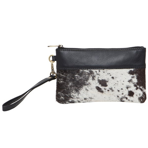 Cowhide & Leather Clutch