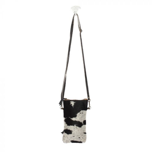 Black & White Cowhide Crossbody Bag