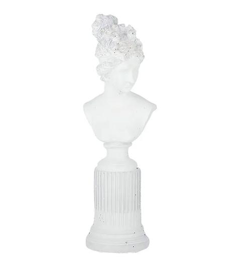 Gisele Head Cement Bust 35.5cm