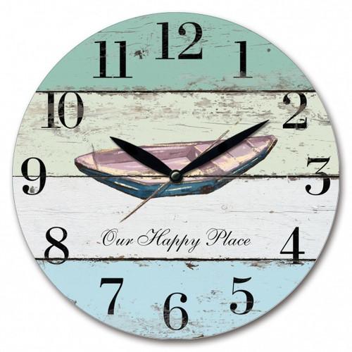 Rustic Boat Wall Clock 28cm