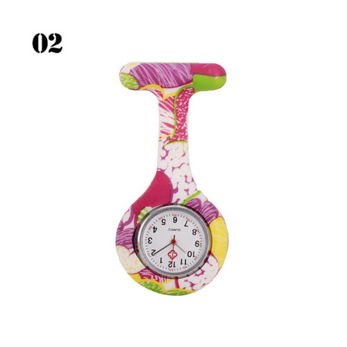 Pink/Yellow Abstract Nurse Watch