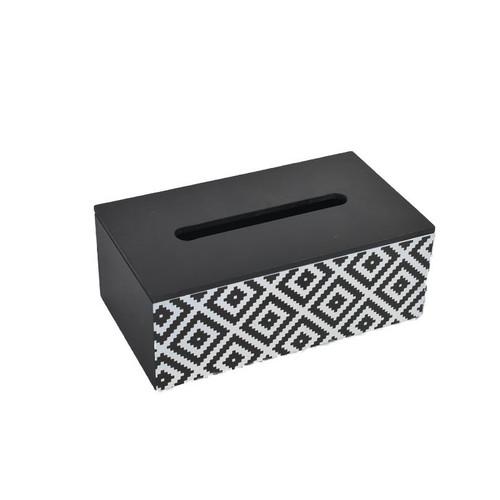 Black & White Patterned Tissue Box Holder
