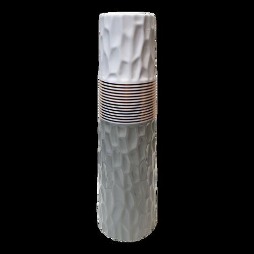 Grey & White Textured Vase Large