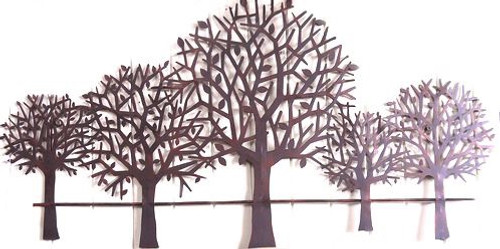 Iron Tree Line Wall Art 83cm