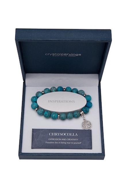 Chrysocolla Tree Of Life Bracelet