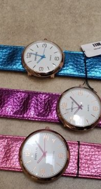 Metallic Slap Watch