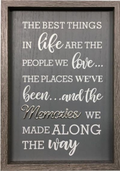 Memories Wooden Wall Plaque