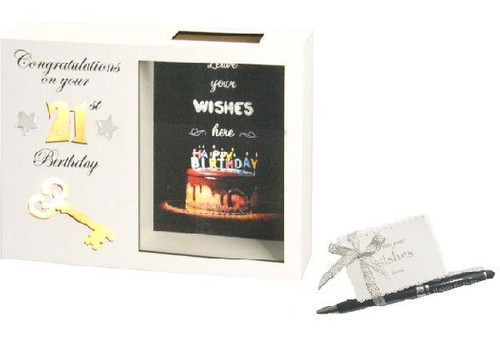 21st Birthday LED Wish Box
