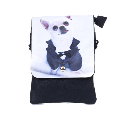 Chihuahua In Suit Crossbody Bag