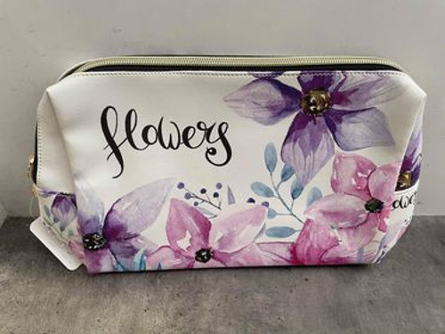 Watercolour Flowers Toiletry Bag