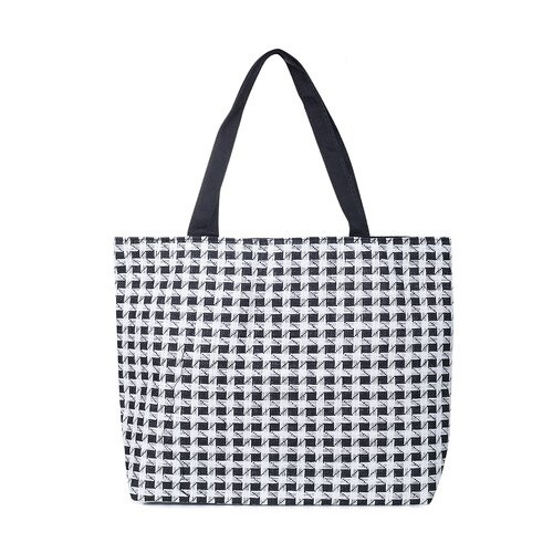 Black & White Gingham Beach Bag