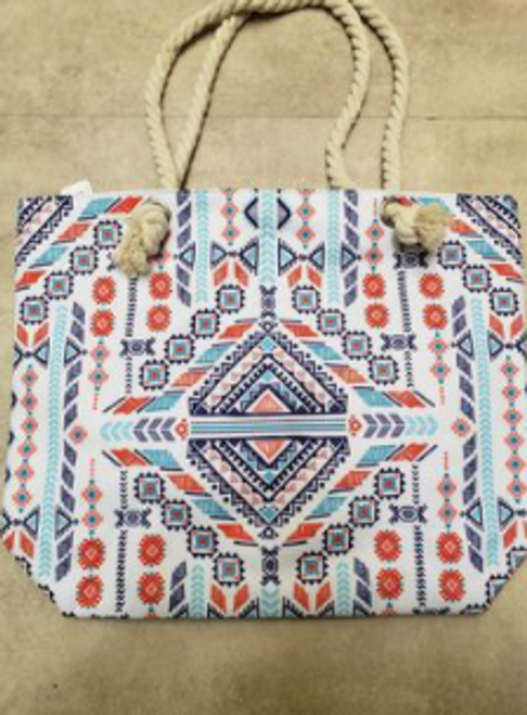 Aztec Design Beach Bag