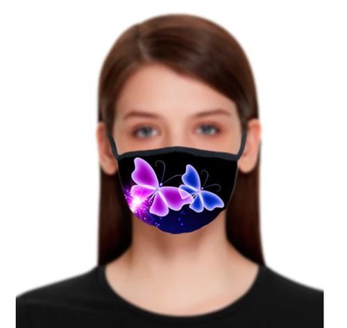 Neon Butterflies Reusable Face Mask