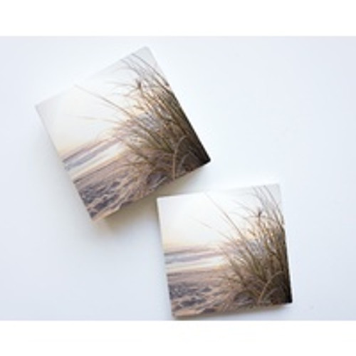 Beach Seagrass Ceramic Coaster Set
