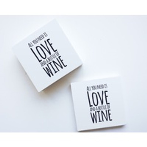 For The Love Of Wine Ceramic Coaster Set