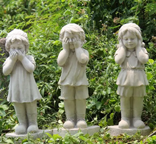 Trio Garden Statues 60cm