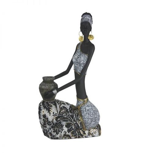 Sebra African Lady Sitting