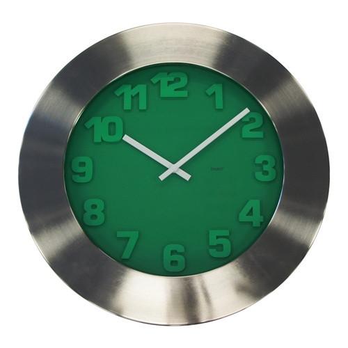 Emerald Nickel & Steel Clock 50cm