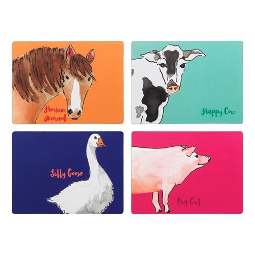 Farm Animals Placemats / Set 4