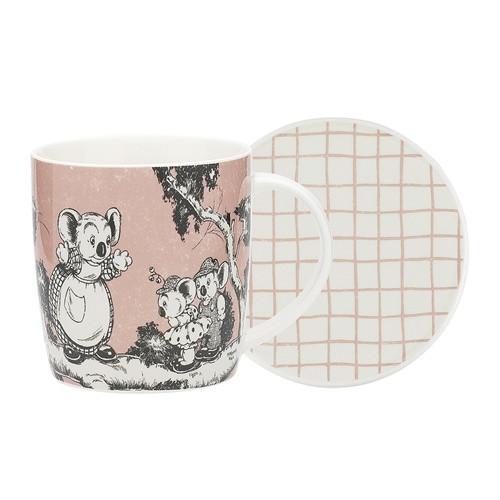 Blinky Bill Mug & Coaster Set / Coral