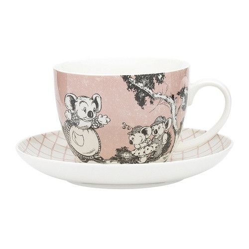 Blinky Bill Jumbo Cup & Saucer Set / Coral