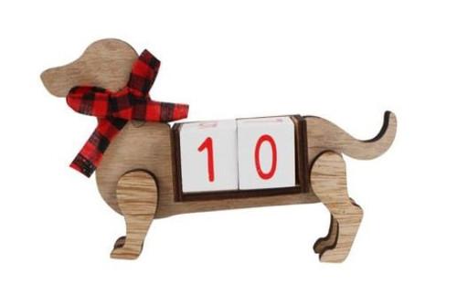 Dachshund Xmas Countdown Ornament