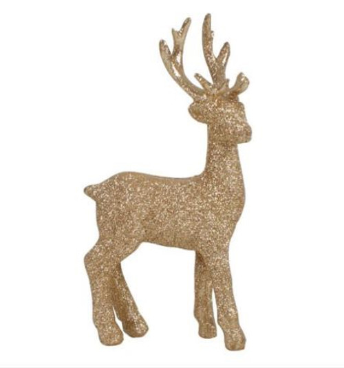 Glitter Resin Reindeer Ornament