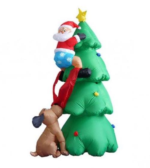 Inflatable Santa Climbing Tree 1.8m