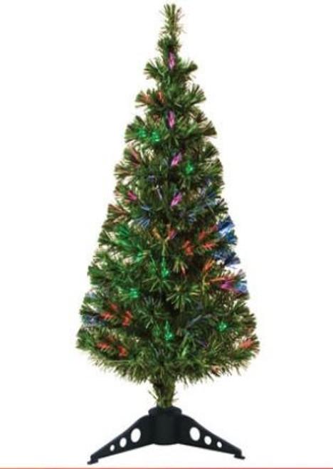 Fibre Optic Light-Up Christmas Tree 1.5m