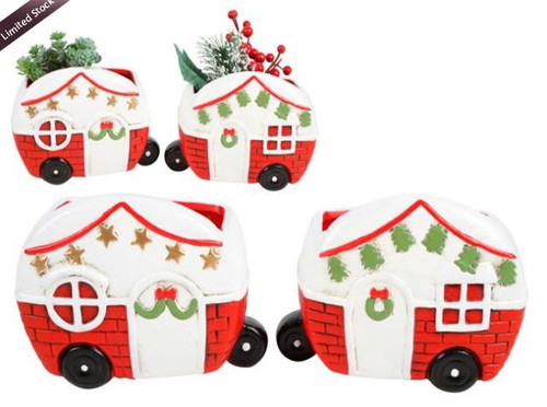 Christmas Caravan Planter