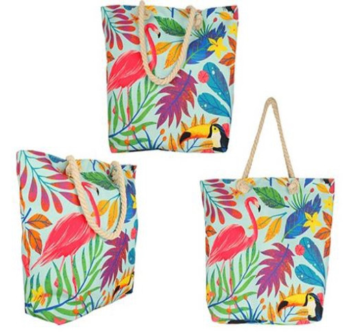 Rainbow Jungle Beach Bag