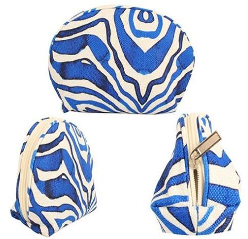 Ocean Tie Dye Cosmetics Bag