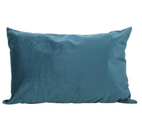 Ocean Blue Velvet Cushion 50x30cm