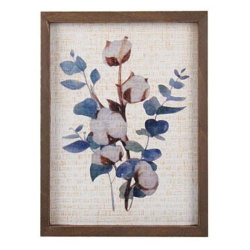 Cotton Eucalyptus Frame 30x25cm